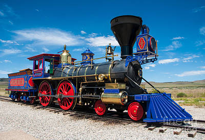 Historic Jupiter Steam Locomotive - Promontory Point Art Print