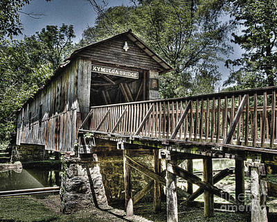 Photograph - Historic Kymulga Covered Bridge by Ken Johnson