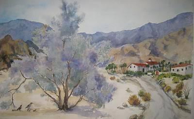 Desert Scene Painting - Historic La Quinta Cove by Maria Hunt