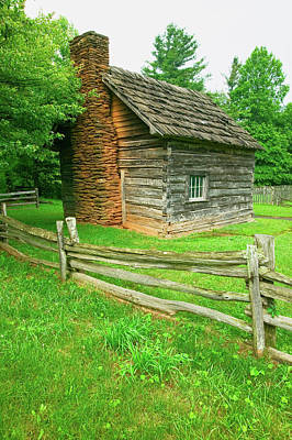 Log Cabin Photograph - Historic Log Cabin On Blue Ridge by Panoramic Images