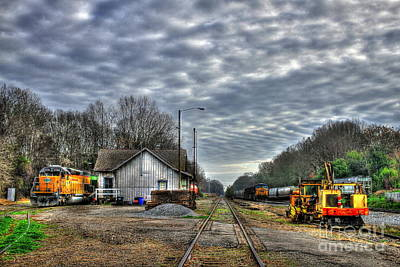 Photograph - Historic Madison Train Station 2 Madison Georgia by Reid Callaway