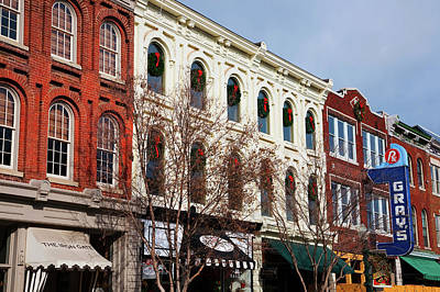 City Street Photograph - Historic Main Street With Red Brick by Panoramic Images