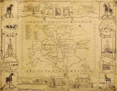 Historic Map Of Lexington Kentucky Original by David Neace