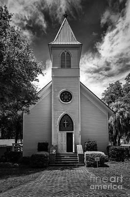 Historic Mcintosh Methodist Church Art Print by Lynn Palmer