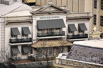 Digital Art - Historic Menger Hotel Circa 1858 San Antonio Texas Poster Edges Digital Art by Shawn O'Brien