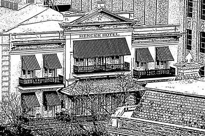 Digital Art - Historic Menger Hotel Circa 1858 San Antonio Texas Stamp Digital Art by Shawn O'Brien