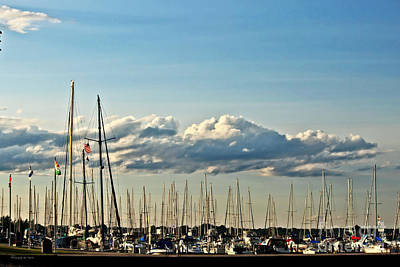Photograph - Historic Menominnee Michigan Marina by Ms Judi