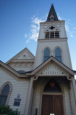 Photograph - Historic Methodist Church Looking Up by Mick Anderson
