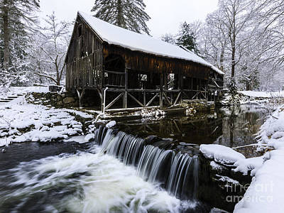 Photograph - Historic Mill - Vintage 1800s by Expressive Landscapes Fine Art Photography by Thom