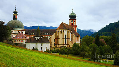 Photograph - Historic Monastery In The Black Forest by Nick  Biemans