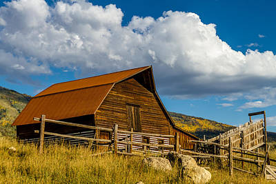 Photograph - Historic Moore Barn Steamboat Springs Co by Teri Virbickis