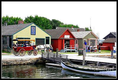 Historic Mystic Seaport Art Print by Dora Sofia Caputo Photographic Art and Design