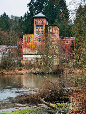 Photograph - Historic Old Brewery By Creek by Valerie Garner
