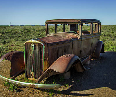 Petrified Forest Arizona Photograph - Historic Old Route 66 Passed by Jerry Ginsberg
