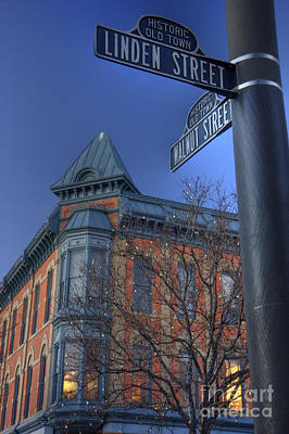 historic old town of Fort Collins Art Print