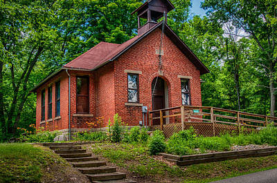 Photograph - Historic One Room School House by Gene Sherrill