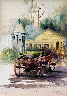 Painting - Historic Park Punta Gorda Florida by Christa Friedl