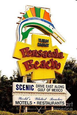 Historic Pensacola Beach Sign Art Print