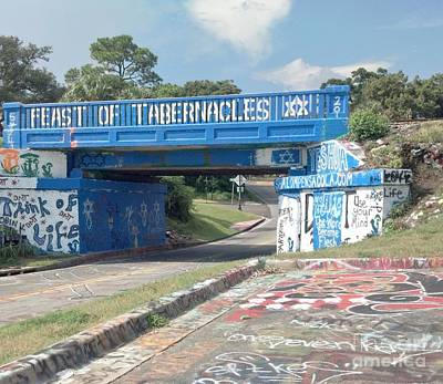 Historic Pensacola Graffiti Bridge Art Print