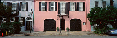 Old South Photograph - Historic Pink Home In Charleston, Sc by Panoramic Images