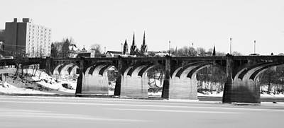 Photograph - Historic Pittston City Bridge by Crystal Wightman