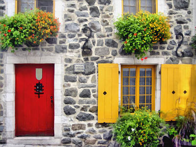 Digital Art - Historic Quebec City  Street Scene by Ann Powell