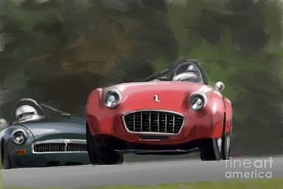 Sportscar Painting - Historic Racing by Reinhold FineArt