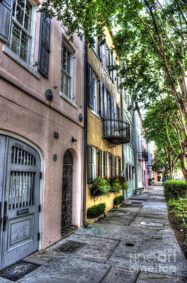 Photograph - Historic Rainbow Row by Dale Powell