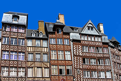 Frame House Photograph - Historic Rennes by Jane Rix