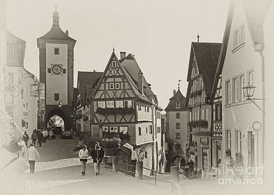 Photograph - historic Rothenburg Bavaria 1 by Rudi Prott