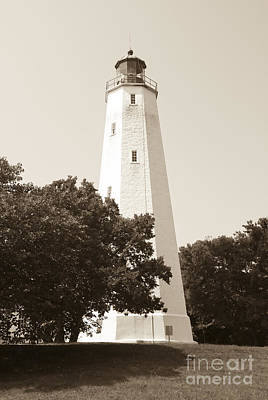 Photograph - Historic Sandy Hook Lighthouse by Anthony Sacco