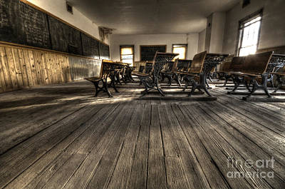 Bannack Ghost Town Photograph - Historic School Bannack Montana 3 by Bob Christopher