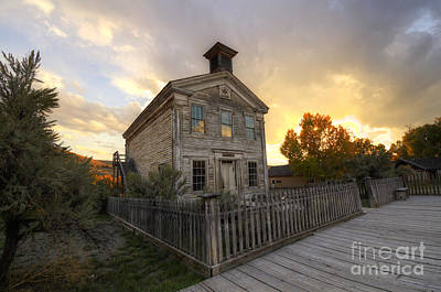 Historic School Bannack Montana 4 Art Print