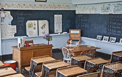 Photograph - Historic School Classroom Art Prints by Valerie Garner