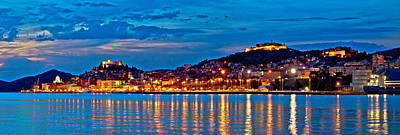 Photograph - Historic Sibenik Waterfront Evening Panorama by Brch Photography