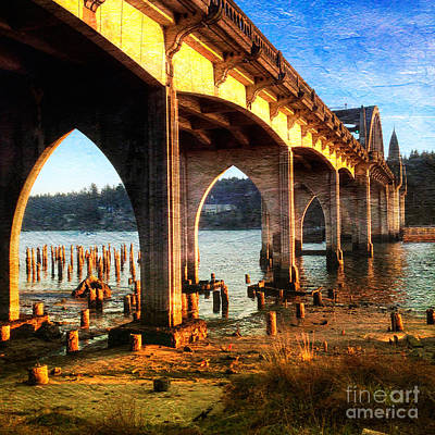 Photograph - Historic Siuslaw River Bridge by Charlene Mitchell