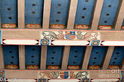 Photograph - Historic Spanish Ceiling  by DJ Laughlin