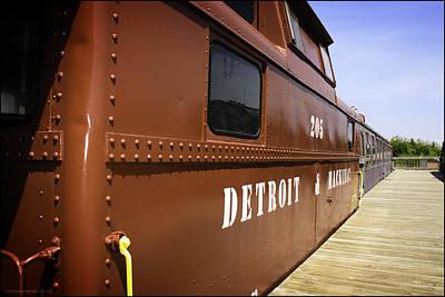 Train Photograph - Historic Standish Depot 1889 Standish Michigan by LeeAnn McLaneGoetz McLaneGoetzStudioLLCcom