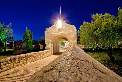 Photograph - Historic Stone Gate Entrance Of Nin by Brch Photography