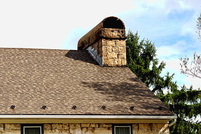 Photograph - Historic Stone House Roof Detail by Gregory Scott