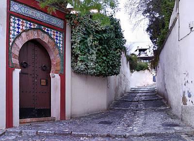 Old Door Photograph - Historic Street At Albaycin In Granada' by Guido Montanes Castillo