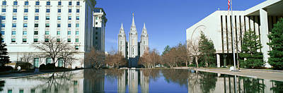Historic Temple And Square In Salt Lake Print by Panoramic Images