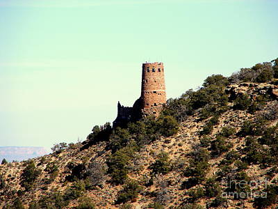 Photograph - Historic Tower Of Grand Canyon by John Potts