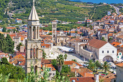 Photograph - Historic Town Of Hvar Stone Architecture by Brch Photography