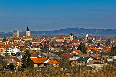 Photograph - Historic Town Of Krizevci Panoramic Cityscape by Brch Photography