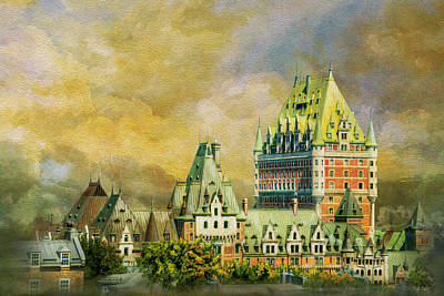 Historic Town Of Old Quebec 01 Art Print by Catf