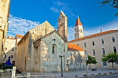 Comedian Drawings - Historic UNESCO town of Trogir square by Brch Photography