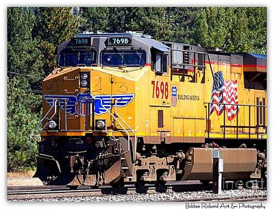 Photograph - Historic Union Pacific Engine by Bobbee Rickard