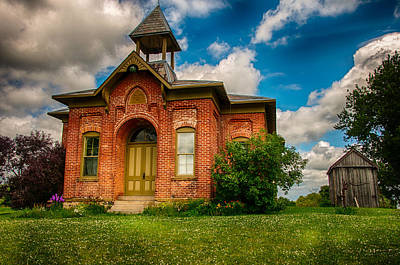 Photograph - Historic Whitley Co School House by Gene Sherrill