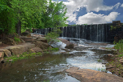 Photograph - Historic Yates Mill Dam - Raleigh N C by Paulette B Wright